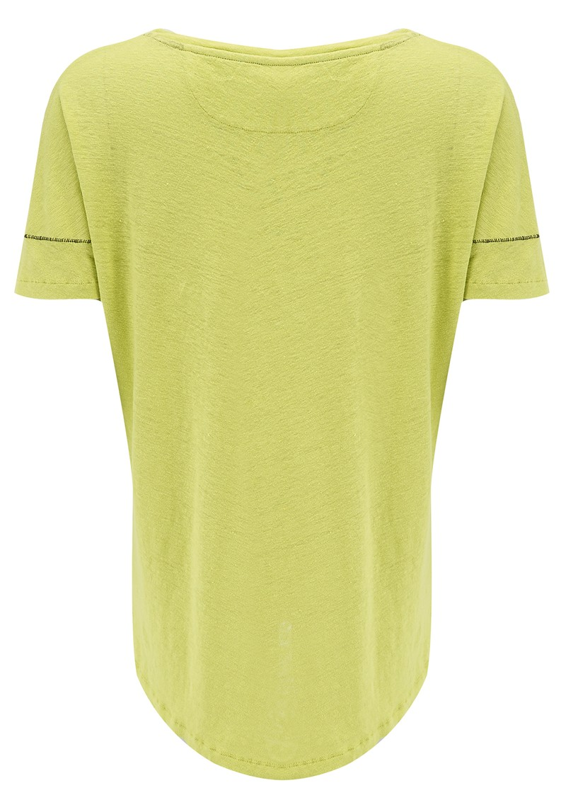 Twisted Muse Luciana Pocket Tee - Lime main image