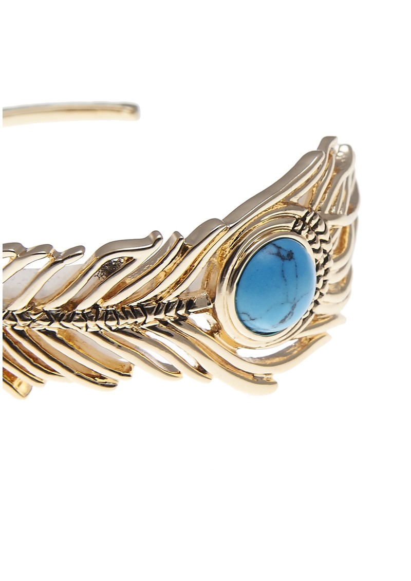 House Of Harlow Eye Of Wisdom Cuff - Gold & Turquoise  main image
