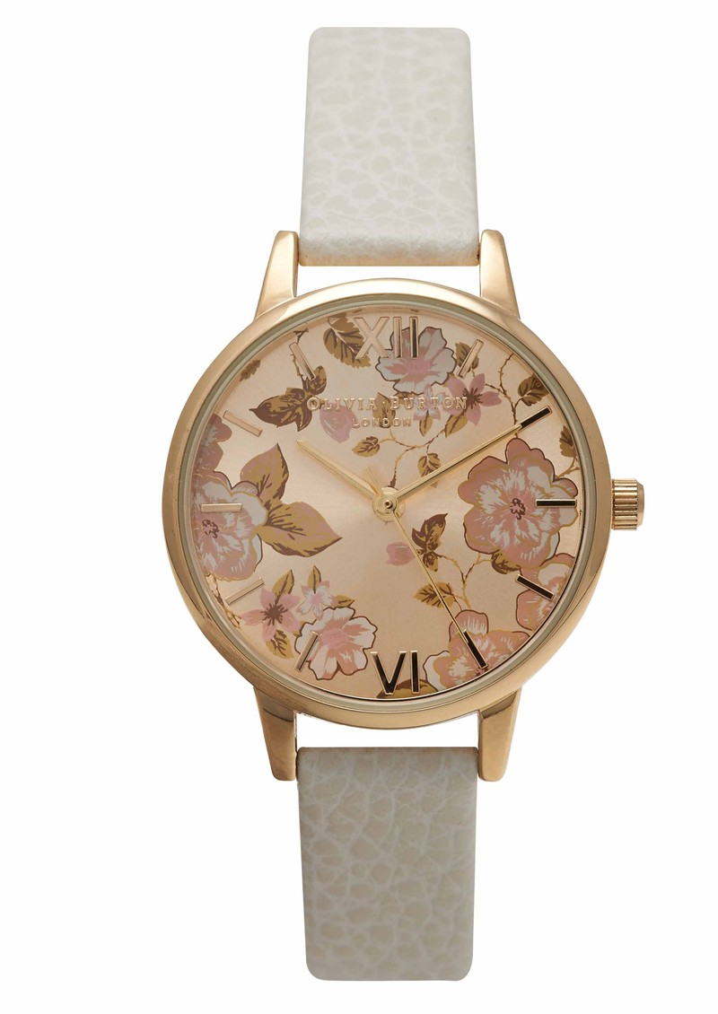 Parlour Midi Dial Watch - Mink & Gold main image
