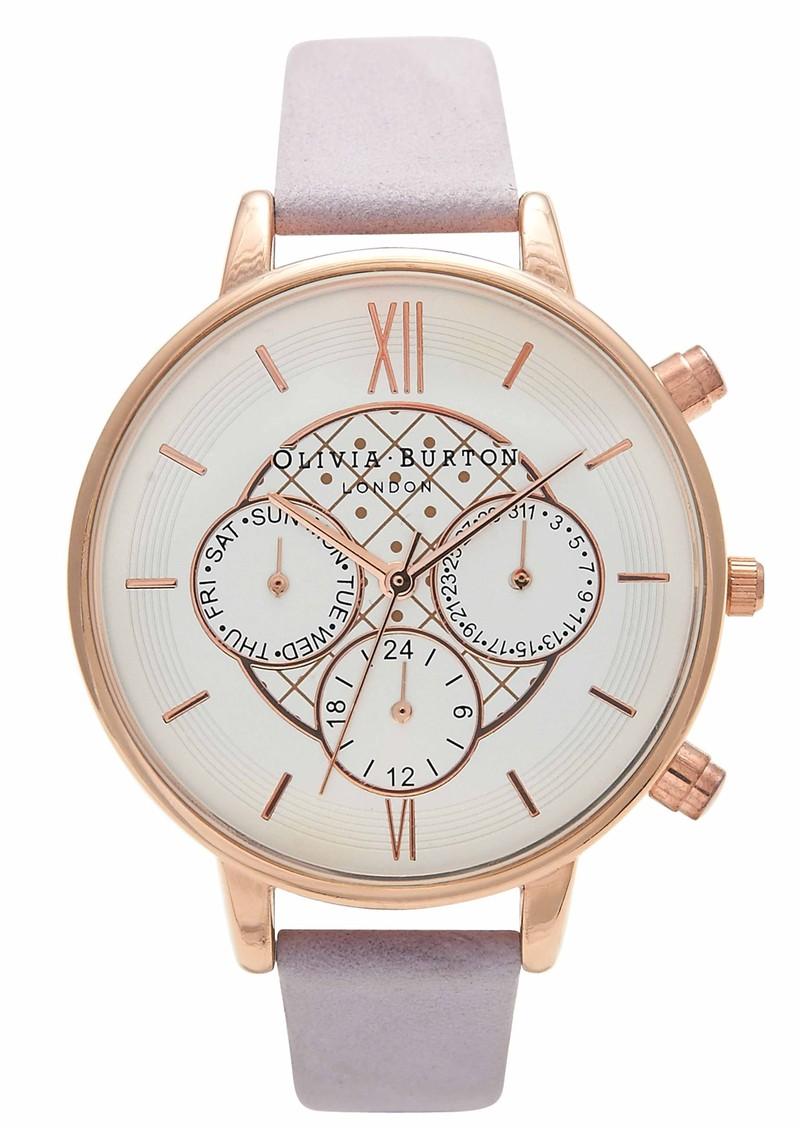 Olivia Burton Chrono Detail Watch - Rose Gold & Lilac main image