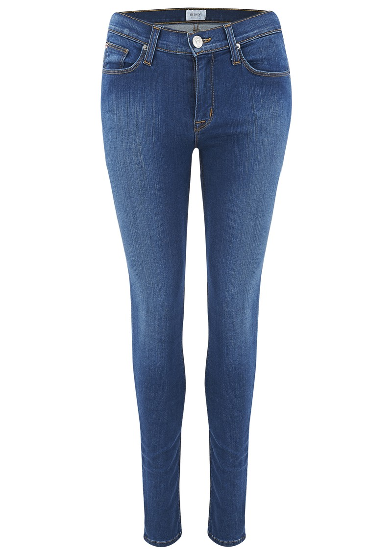 Hudson Jeans Nico Mid Rise Super Skinny Jeans - Woodstock main image
