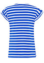 Great Plains Lucy Stripe Embellished Top - Cobalt Blue & Salt