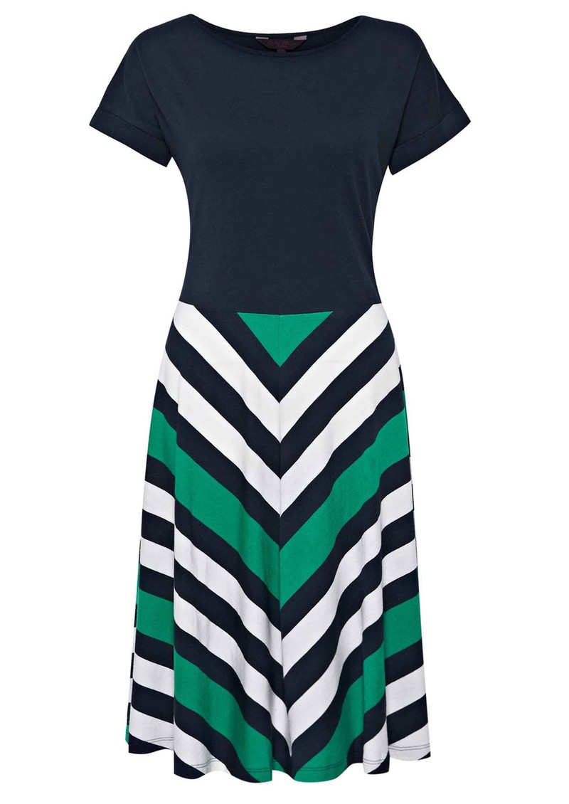 Great Plains Jolly Roger Chevron Stripe Dress - Seahorse Green  main image