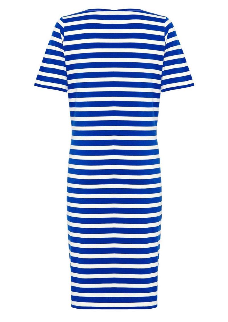 Great Plains Lucy Stripe Short Sleeve Jersey Dress - Cobalt Blue & Salt main image