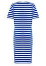 Great Plains Lucy Stripe Short Sleeve Jersey Dress - Cobalt Blue & Salt