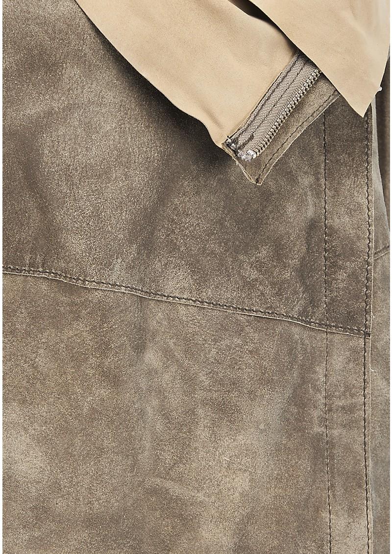 Muubaa Elbe Drape Leather Jacket - Desert  main image
