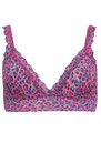 Lace Bralette - Vivid Coral additional image