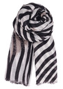 L-Twirled Stripe Scarf - Black additional image