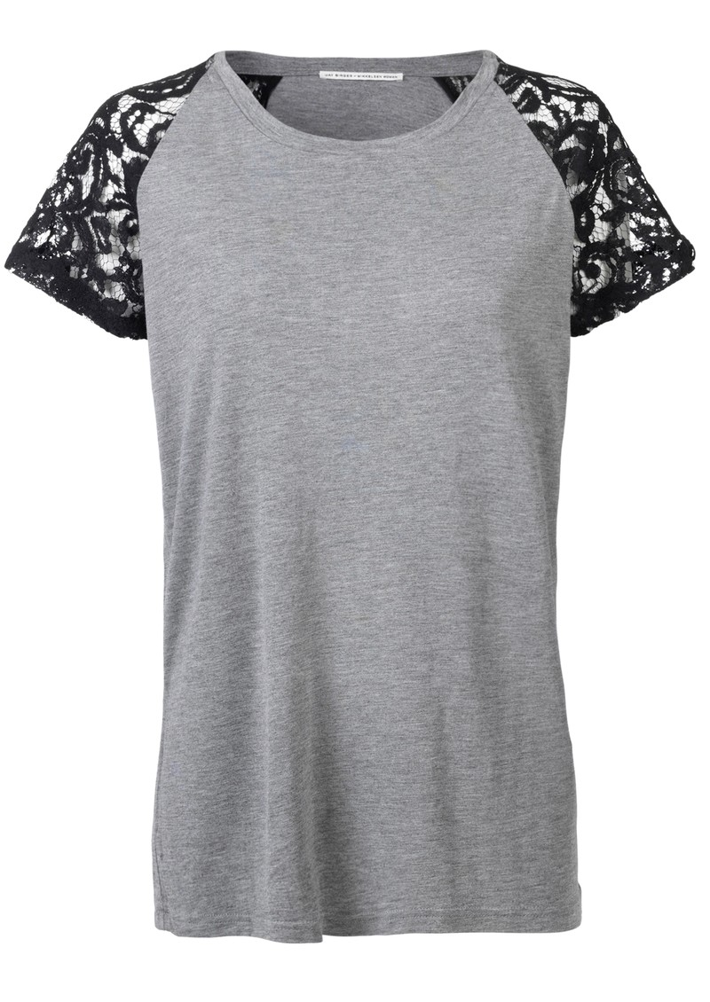 Day Birger et Mikkelsen  Privee Lace Short Sleeve Tee - Grey Melange main image