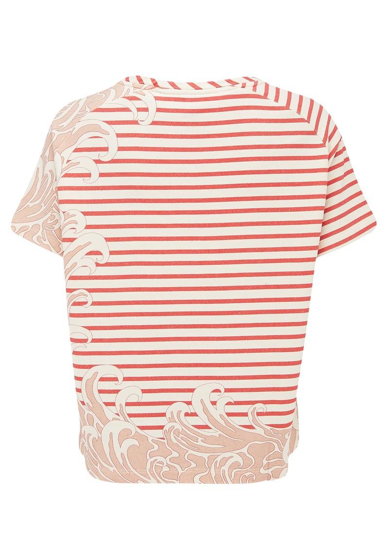 Paul and Joe Sister Sailor Short Sleeve Cotton Top - Framboise main image