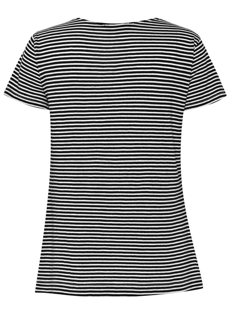 Great Plains Sofia Stripe Short Sleeve Top - Black main image