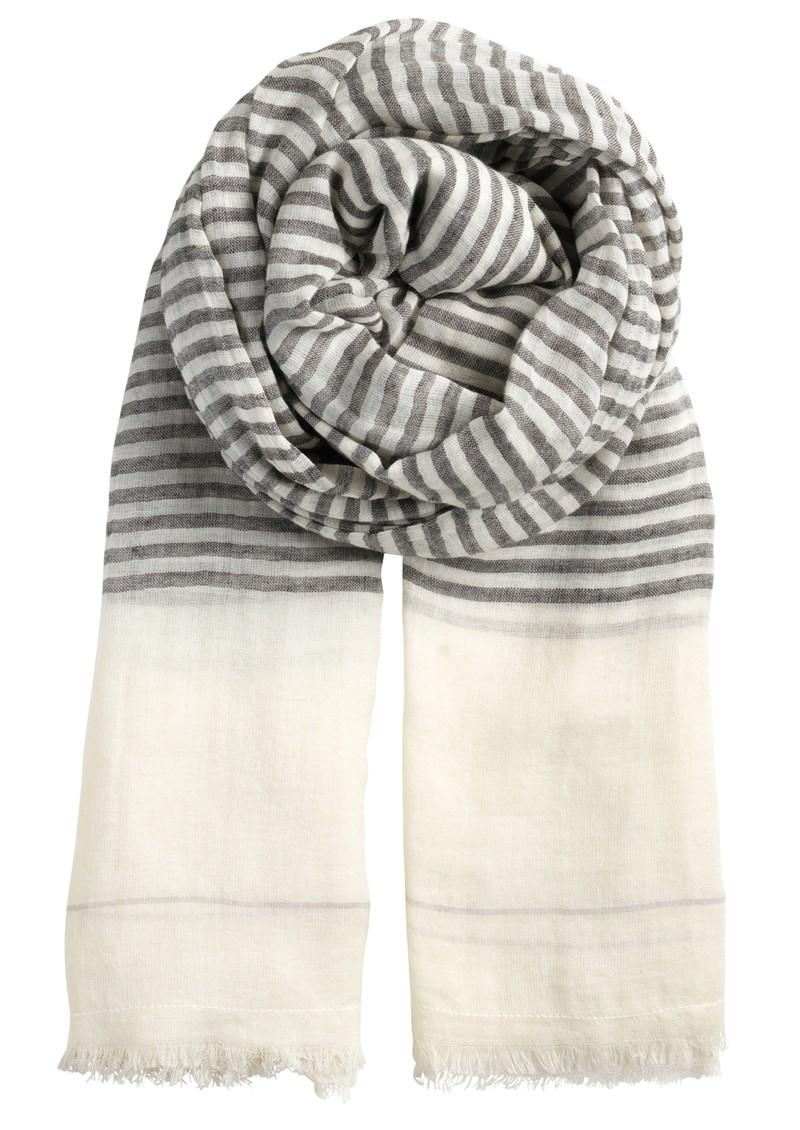 Becksondergaard L-Just a Stripe Cotton Scarf - Black main image