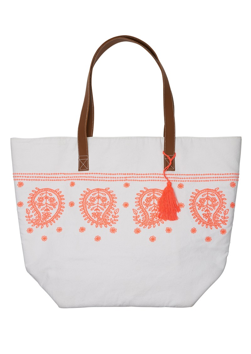 ORELIA Handmade Embroidered Beach Bag - Multi main image