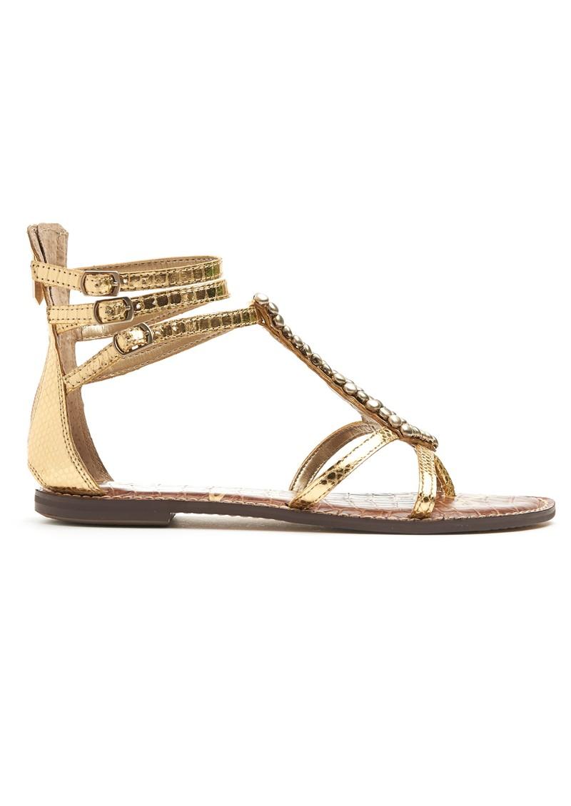 Sam Edelman Ginger Boa Embellished Sandals - Gold main image