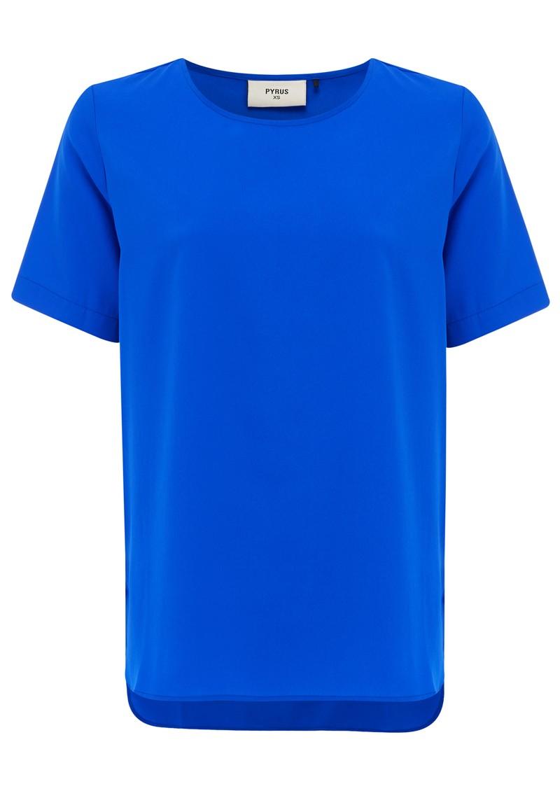 Pyrus Marla Short Sleeve Top - Neon Blue main image