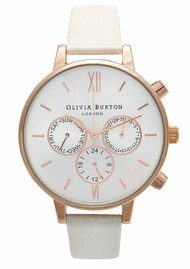 Olivia Burton Chrono Detail Watch - Rose Gold & Mink