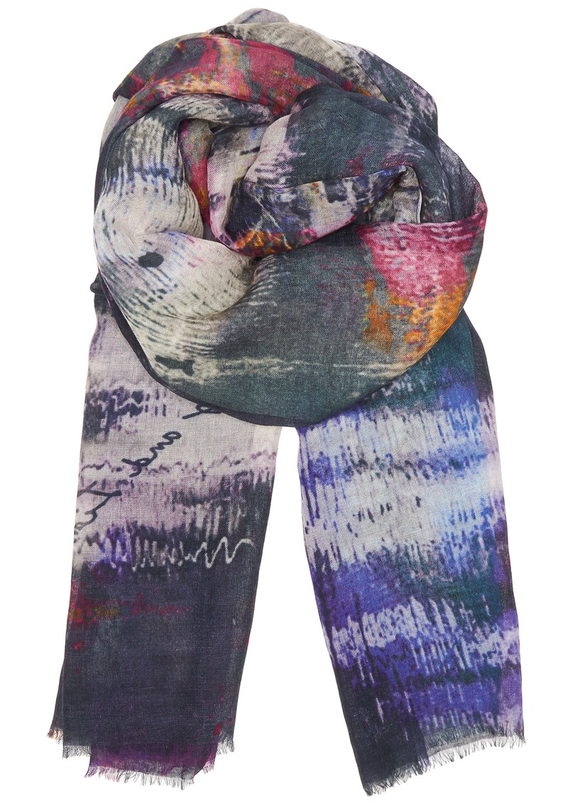 Lily and Lionel Hampstead Cashmere Mix Scarf - Violet main image