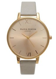 Olivia Burton Big Dial Watch - Gold & Grey