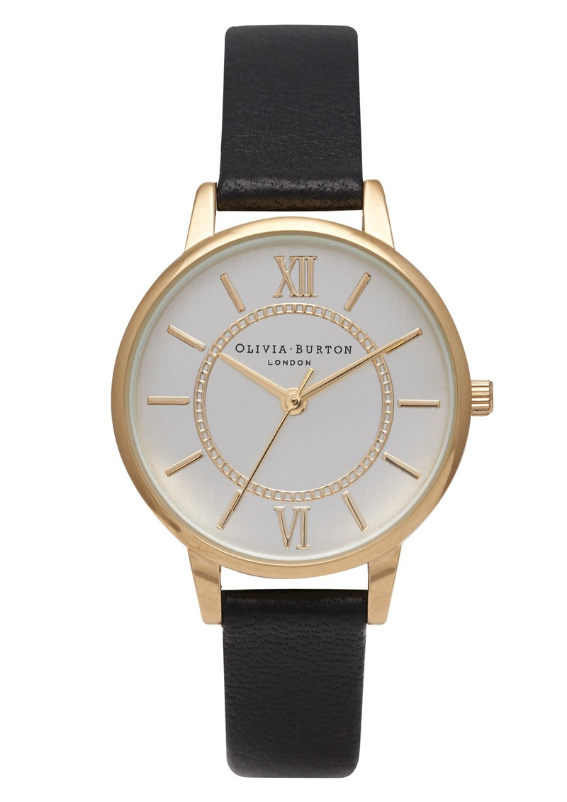 Olivia Burton Wonderland Watch - Gold & Black main image