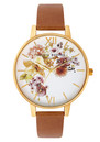 Flower Show Watch - Gold & Tan additional image