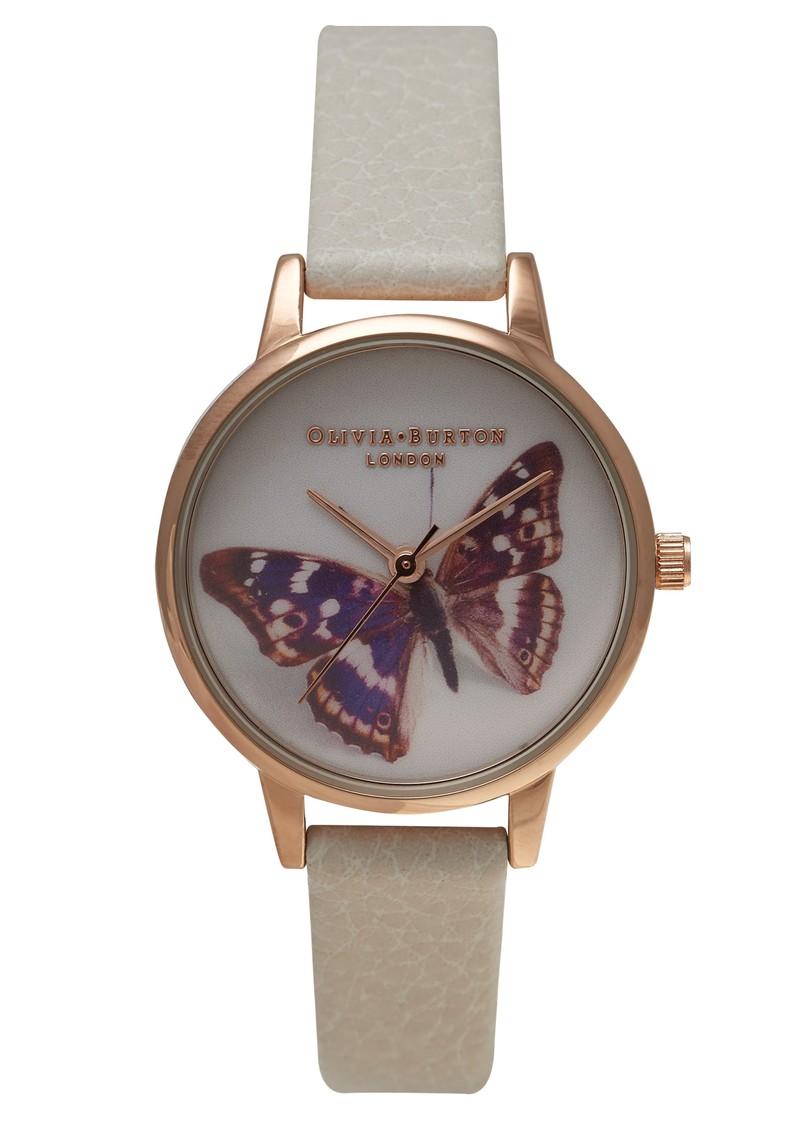 Olivia Burton Midi Butterfly Watch - Rose Gold & Mink main image