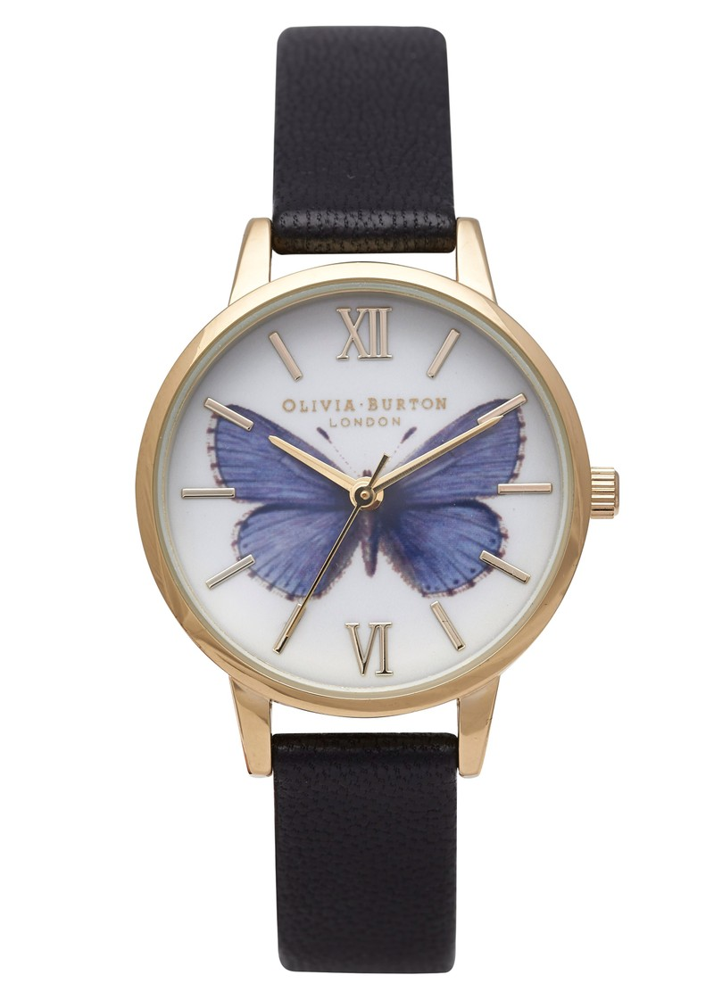 Olivia Burton Woodland Butterfly Watch - Blue main image