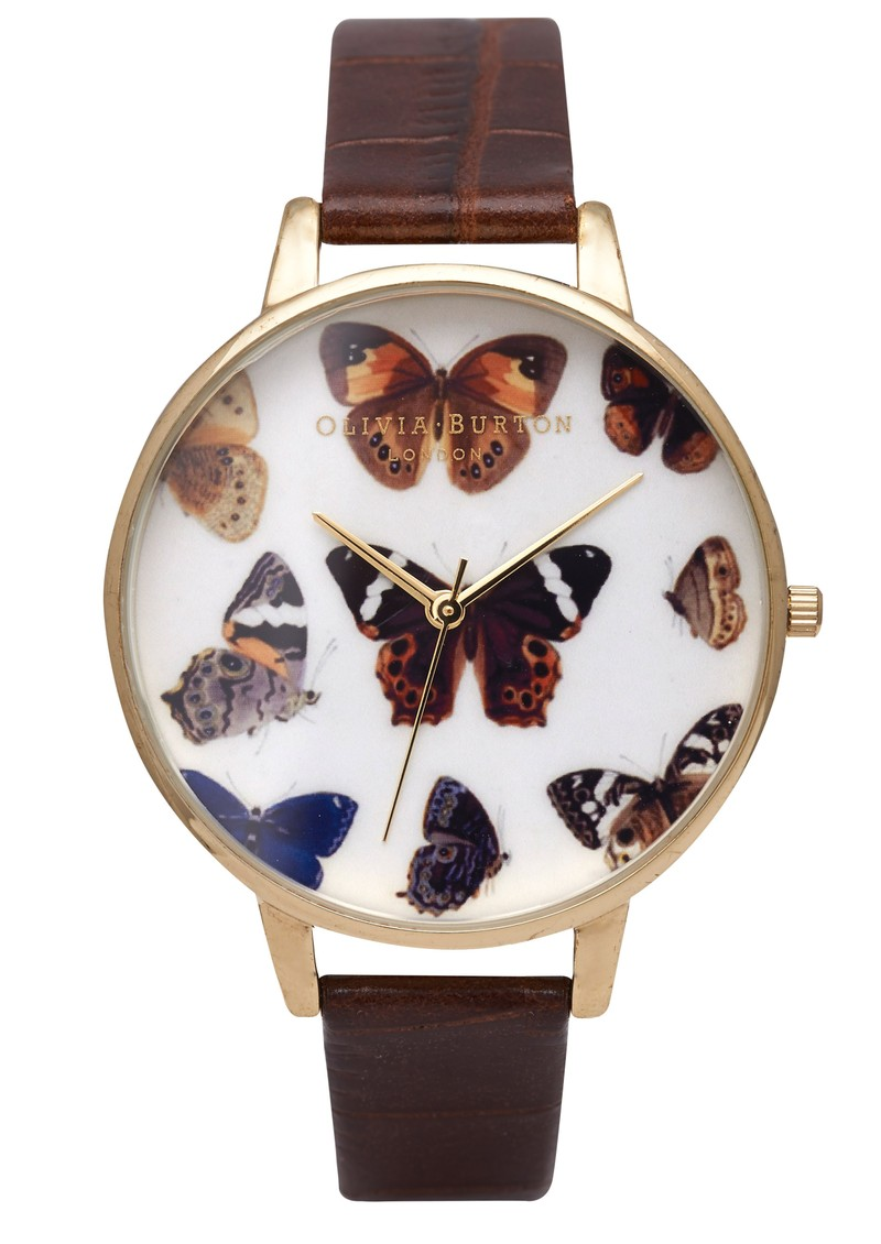 Woodland Multi Butterfly Watch - Cognac main image