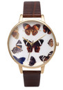 Olivia Burton Woodland Multi Butterfly Watch - Cognac