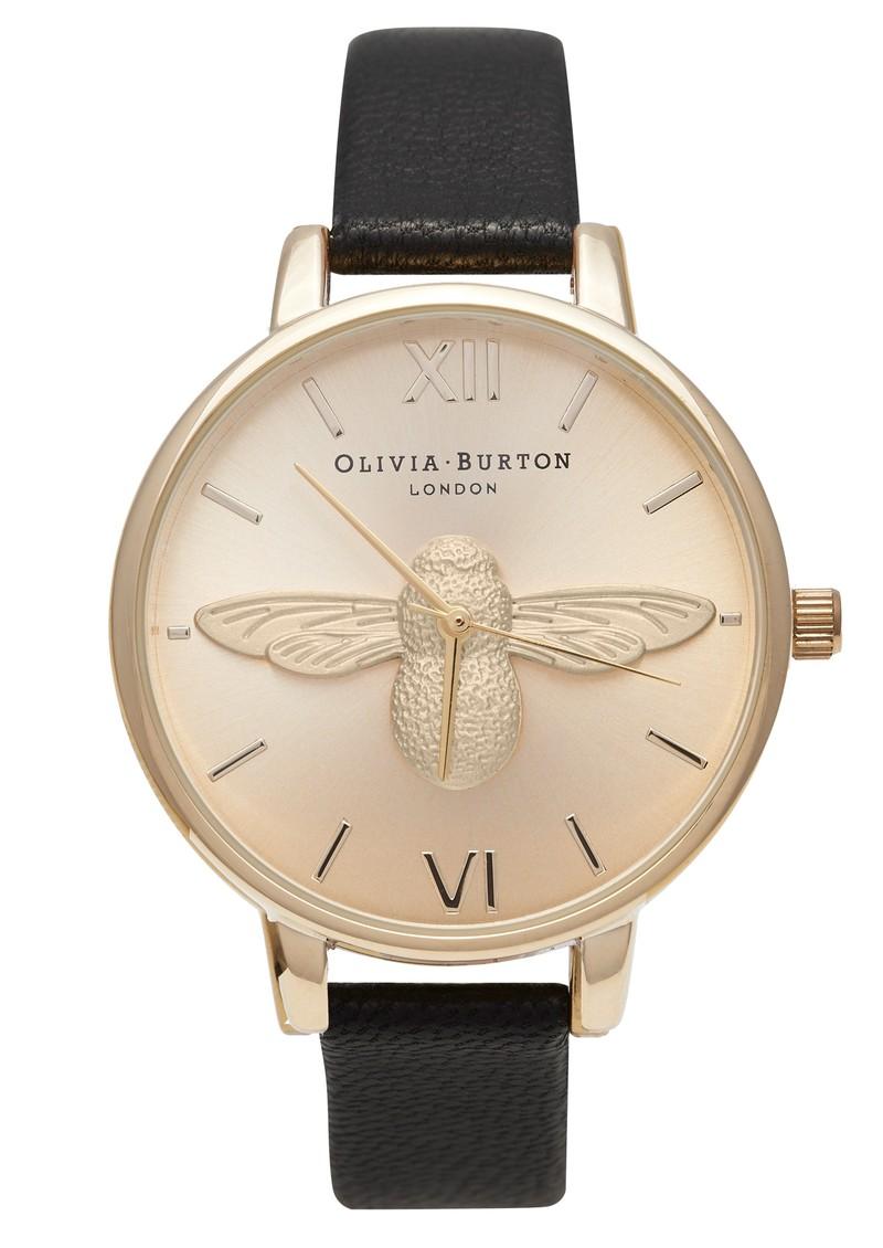Olivia Burton Animal Motif Moulded Bee Watch - Gold & Black main image