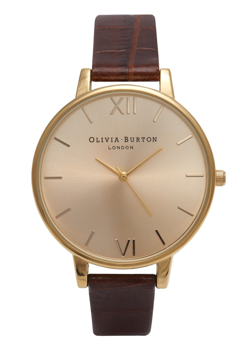 Olivia Burton Big Dial Watch - Gold & Cognac main image