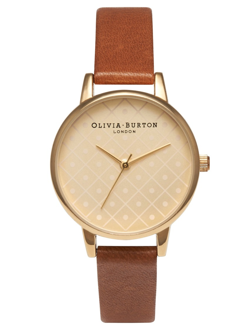 Olivia Burton Modern Vintage Watch - Gold & Tan main image