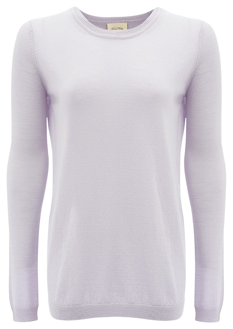 American Vintage IRON LONG SLEEVE PULLOVER - LAVENDER main image