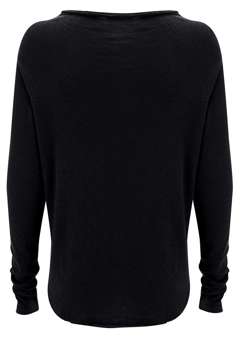 SONOMA ROUND NECK TOP - BLACK main image