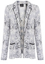 DRAPEY MARBLE PRINT BLAZER - COMBO additional image