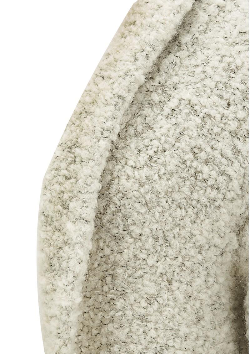 American Vintage MOAPA VALLEY OPEN KNIT CARDIGAN - HEATHER GREY main image