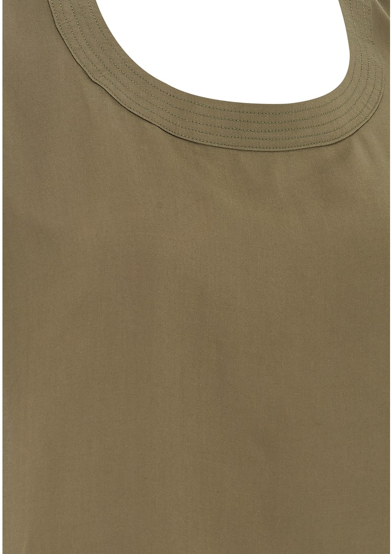 Pyrus Cool Text Slouchy Tee - Olive main image