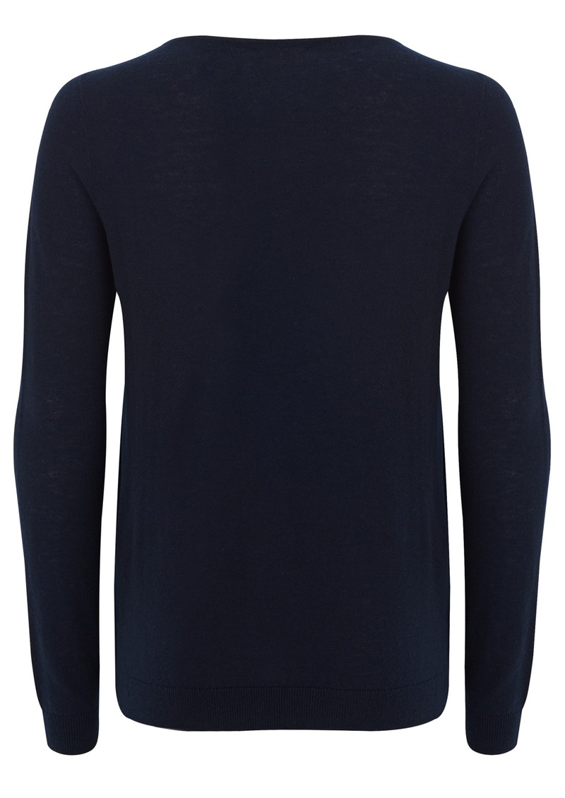 American Vintage Blossom Wool Mix Jumper - Navy main image