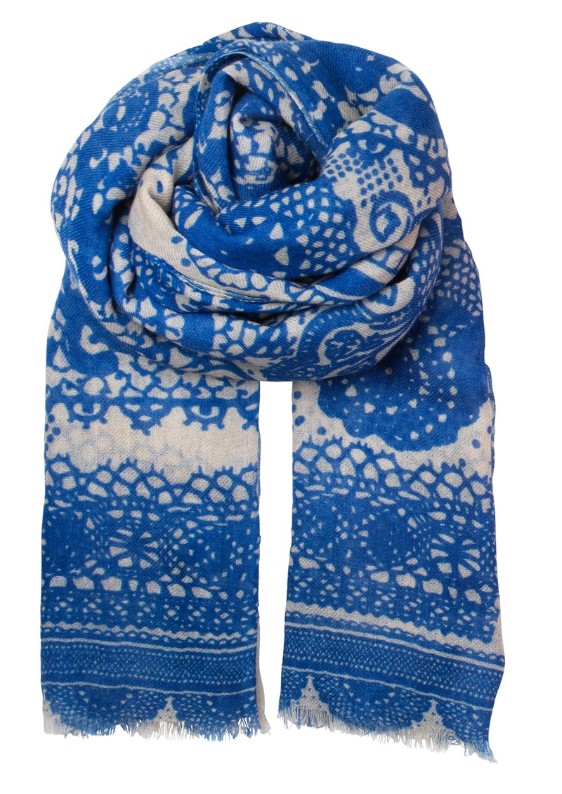 Becksondergaard L-All Lace Wool Scarf - Highlighter Blue main image