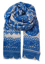 Becksondergaard L-All Lace Wool Scarf - Highlighter Blue