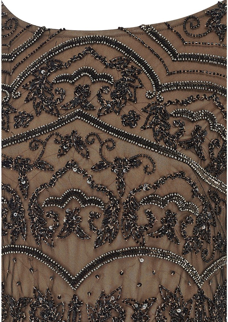 ADRIANNAPAPELL BEADED LONG VINTAGE DRESS - BLACK main image