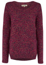 Twisted Muse DEVON KNIT JUMPER - PINK MARL