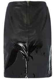 Muubaa CHESSEL PATENT DEGRADE LEATHER SKIRT - BLACK