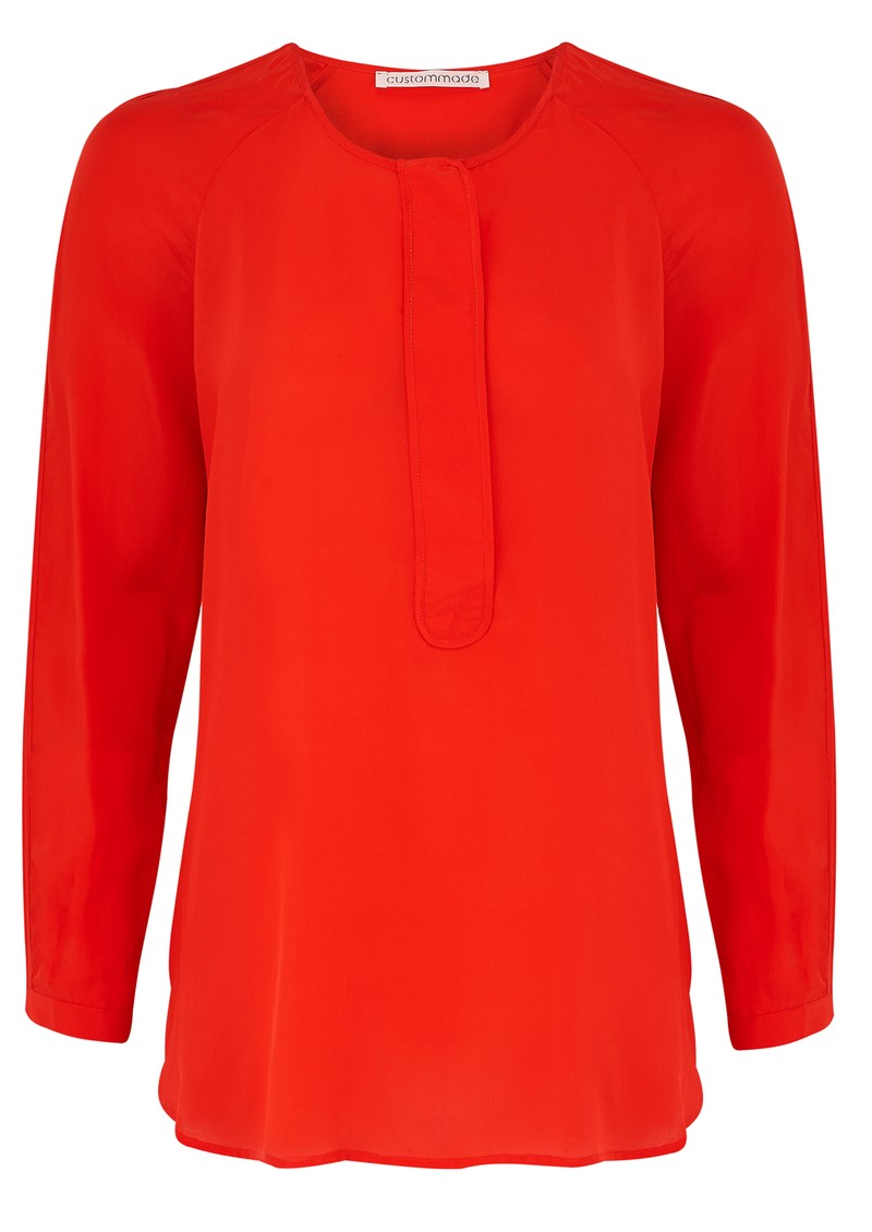 CUSTOMMADE AGNETE SILK BLOUSE - FIERY RED main image