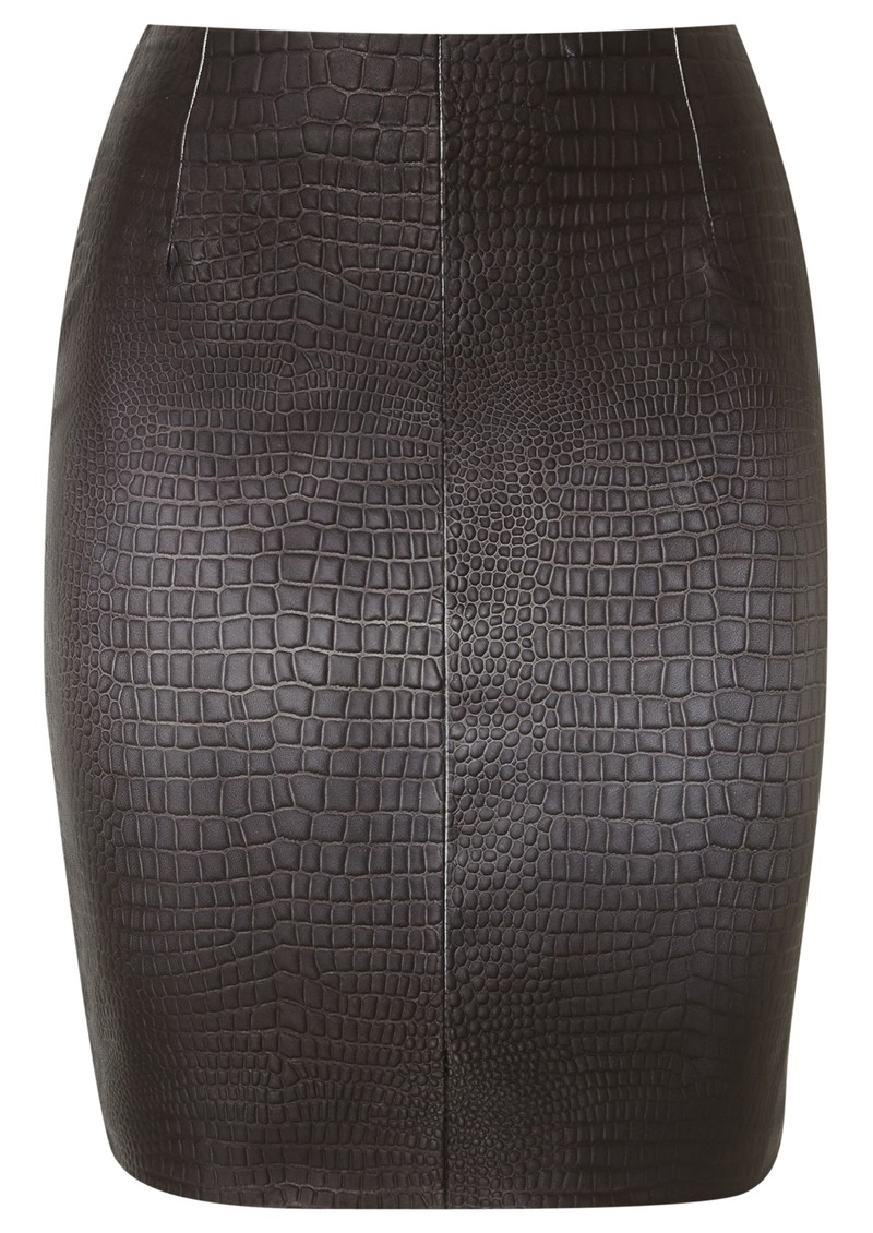 Muubaa HITI CROC LEATHER SKIRT - GREY OMBRE main image