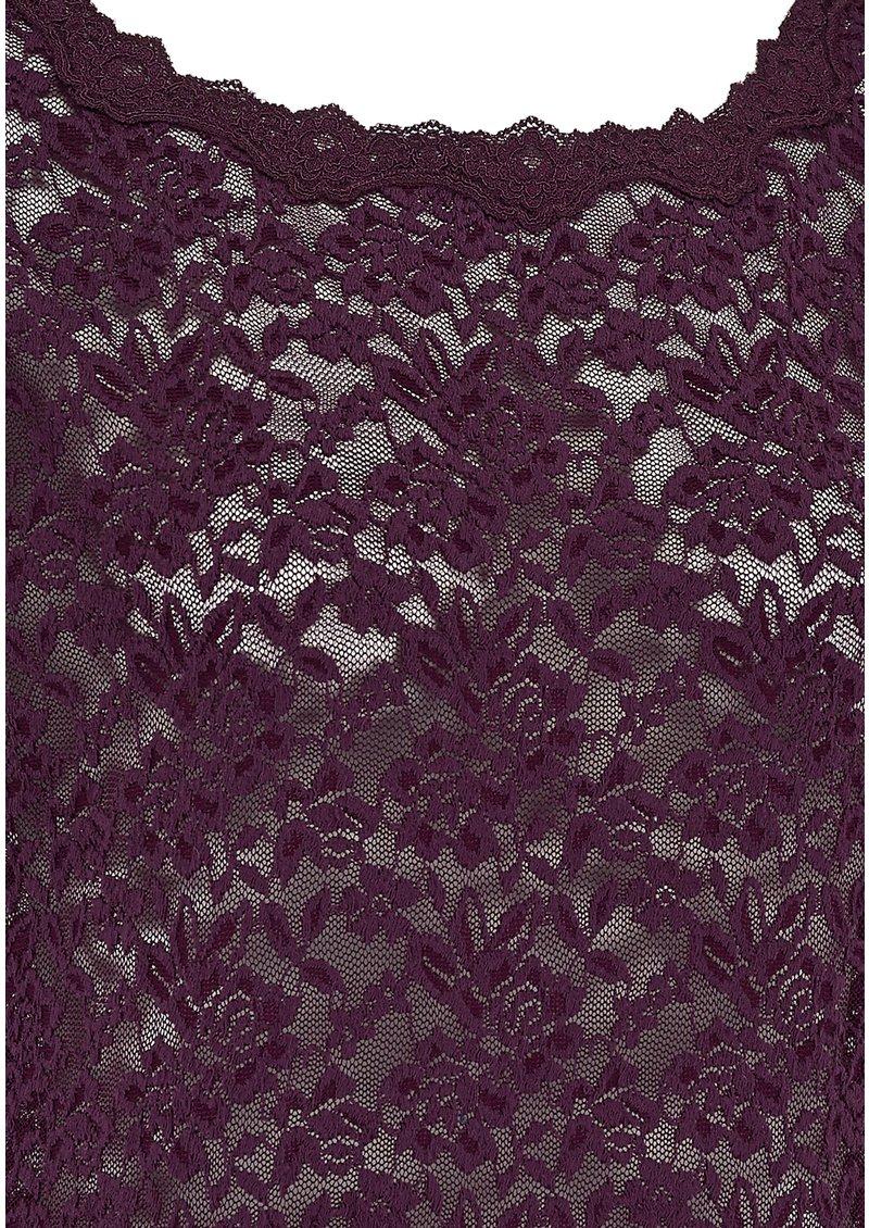 Rosemunde SHORT SLEEVE LACE TSHIRT - BLACKBERRY main image