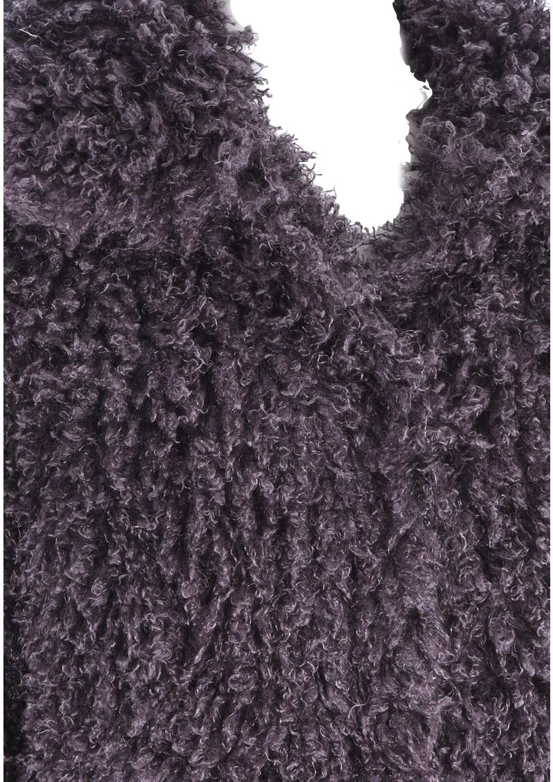 Unreal Fur DE FUR COAT - CHARCOAL main image