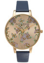PARLOUR FLORAL WATCH - NAVY & GOLD additional image