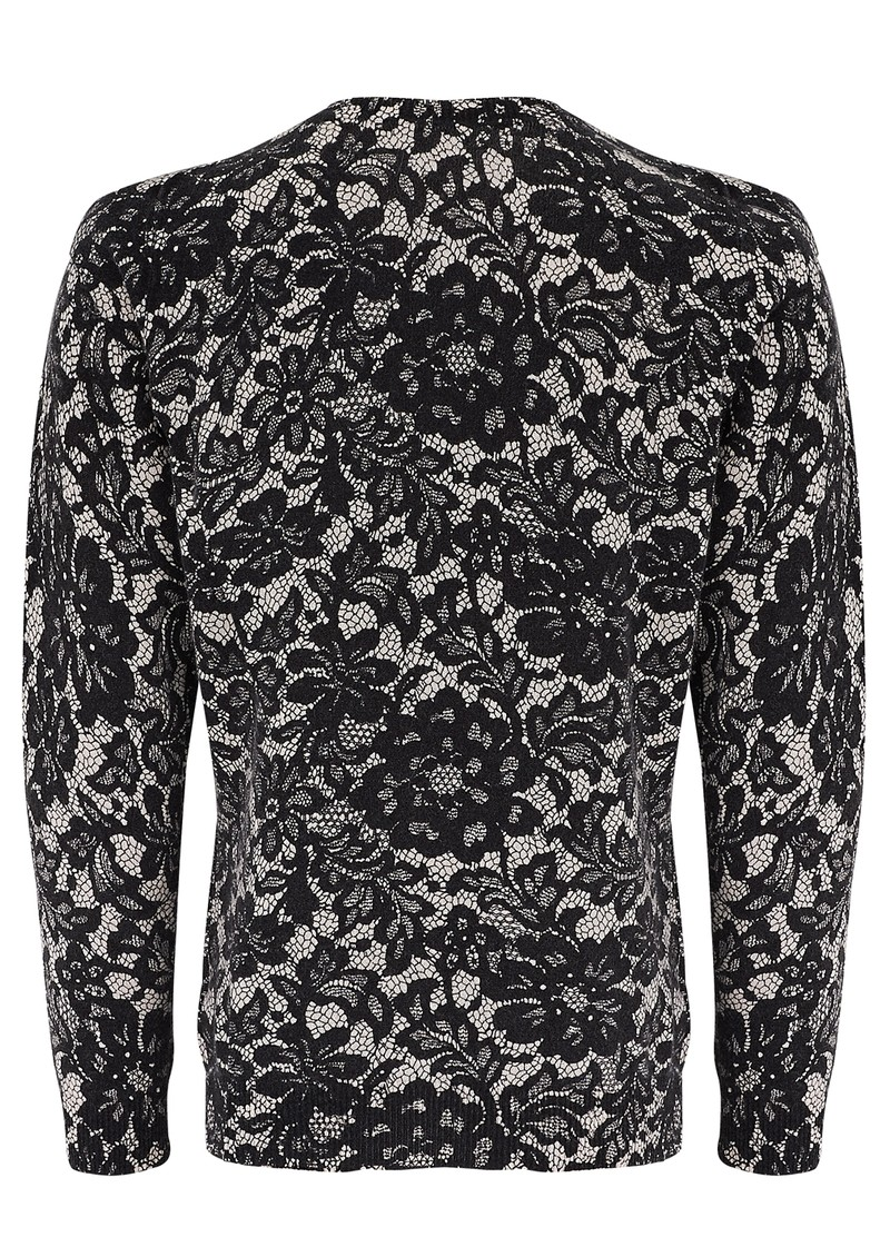 LACE PRINT JUMPER - ALABASTER BLACK main image