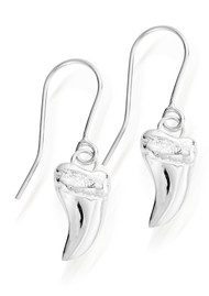 ChloBo STARRY EYES MINI TUSK EARRINGS - SILVER