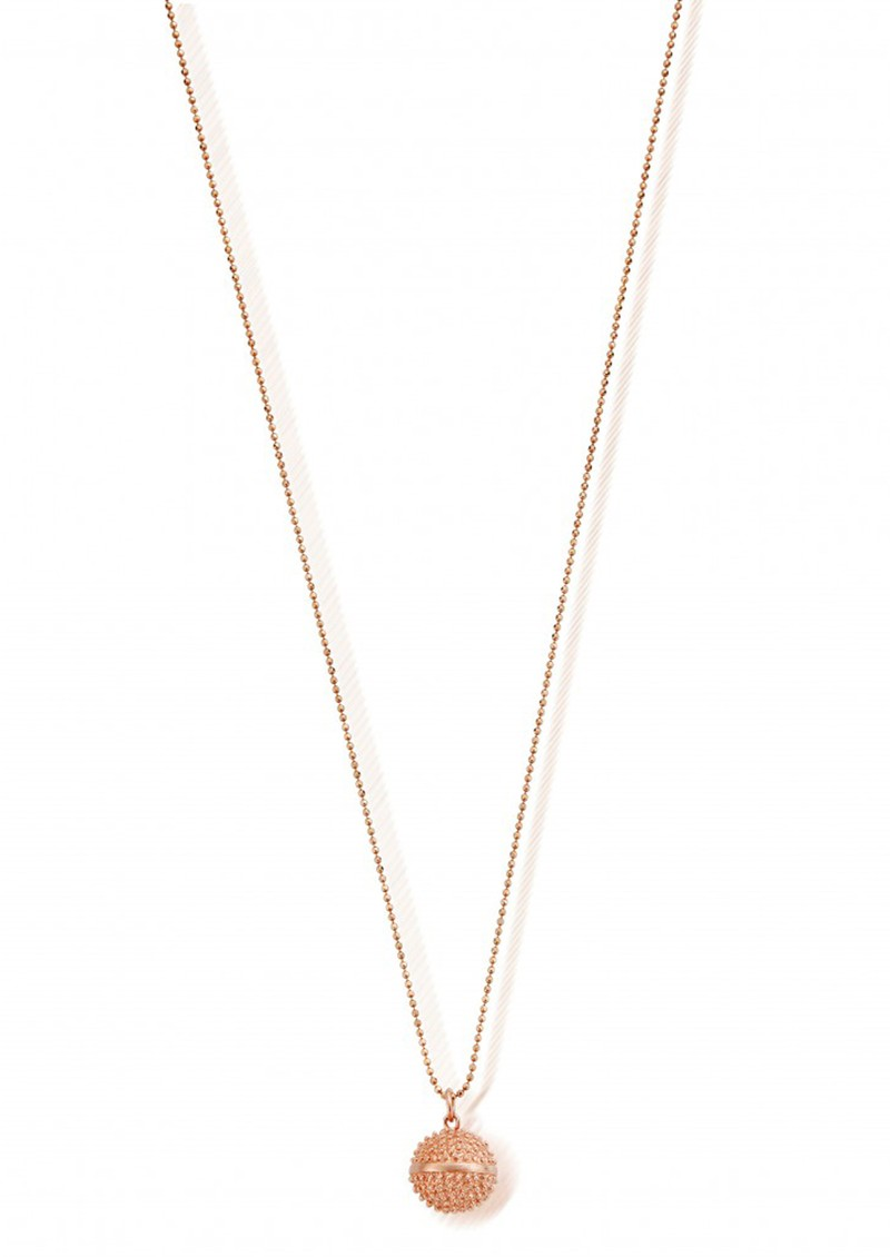 ChloBo Starry Eyes Diamond Cut Ball Chain & Spikey Dreamball Necklace - Rose Gold main image